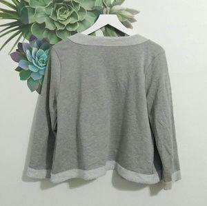 design 365 Sweaters - Design 365 Gray Open Front Cardigan Sweater